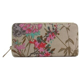 Alfa Multicolor Faux Leather Traditional Foral Wallet