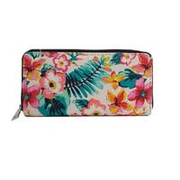 Alfa Traditional Leaf and Flowers Faux Leather Wallet