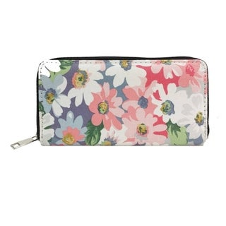 Alfa Traditional Multicolor Faux Leather Floral Wallet