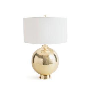Hip Vintage White/Gold Brass Hounslow Table Lamp