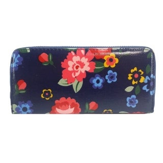 Alfa Traditional Blue Fabric Foral Wallet