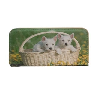 Alfa Traditional '2 Dogs in a Basket' Faux Leather Wallet