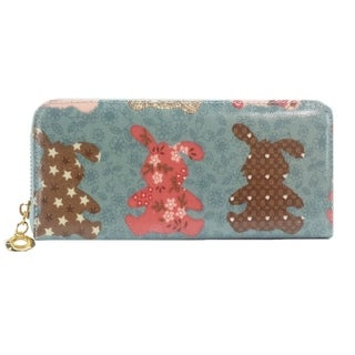 Alfa Traditional Multicolor Faux Leather Bunnies Wallet