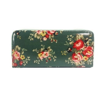 Alfa Green Faux Leather/Nylon/Metal/Polyester Traditional Floral Wallet
