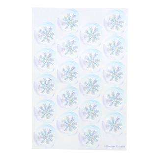 Silver Snowflake 40-count Envelope Seals