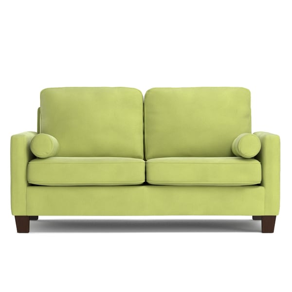 Handy Living Espen Spring Green Velvet SoFast Small Space Living Sofa
