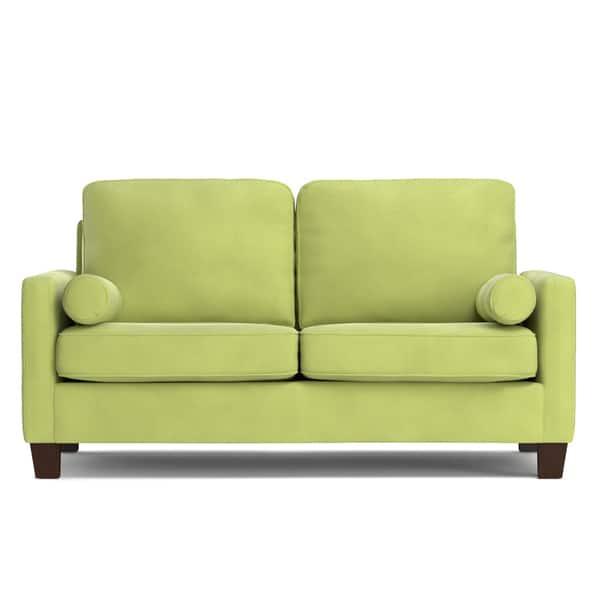 Fantastic Shop Handy Living Espen Spring Green Velvet Sofast Small Forskolin Free Trial Chair Design Images Forskolin Free Trialorg