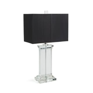 Hip Vintage Oswego Black/Clear Glass Table Lamp