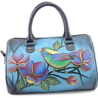 Anuschka Women's '7039' Leather Floral and Bird Print Handbags