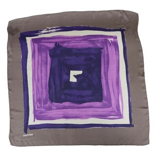 Halston Heritage Concentric Squares Silk Scarf