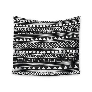 Kess InHouse Fimbis 'Redefined BW' Black and White Polyester Wall Tapestry