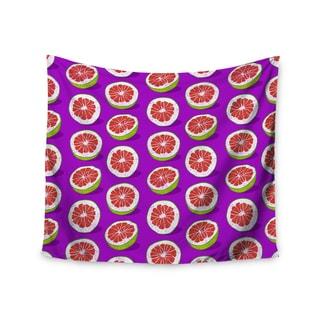 Kess InHouse Evgenia 'Pomelo' Purple Red Wall Tapestry