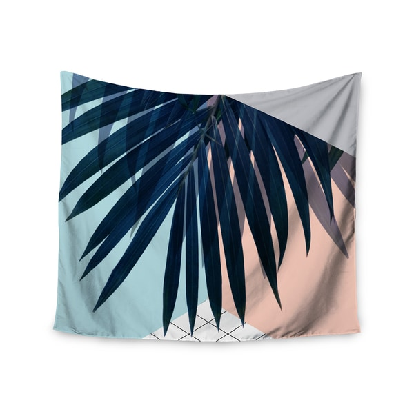 Kess InHouse Cafelab 'Pastel Geometry' Peach and Blue Polyester Wall Tapestry