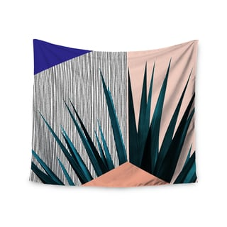 Kess InHouse Cafelab 'Summer Geometry' Blue and Coral Polyester Wall Tapestry