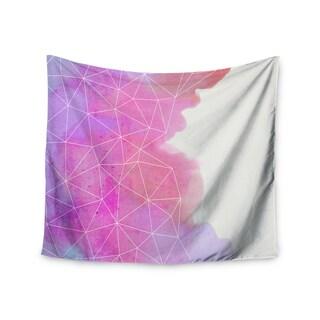 Kess InHouse Cafelab 'Spring Shadows' Purple Pastel Wall Tapestry