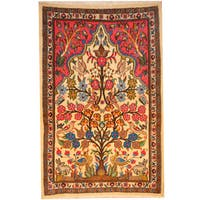 Herat Oriental Persian Hand-knotted Kashan Wool Rug (2'7 x 3'10) - 2'7 x 3'10