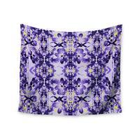Kess InHouse Dawid Roc 'Tropical Orchid Dark Floral 2' Purple/Lavender Wall Tapestry