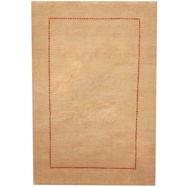 Herat Oriental Indo Hand-knotted Gabbeh Wool Rug (2'7 x 3'10) - 2'7 x 3'10