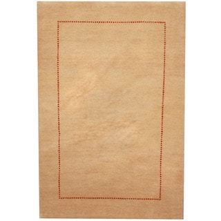 Herat Oriental Indo Hand-knotted Gabbeh Wool Rug (2'7 x 3'10)