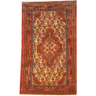 Herat Oriental Persian Hand-knotted Tribal Hamadan Wool Rug (2'7 x 4'3)