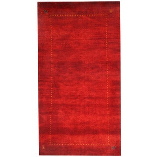 Herat Oriental Indo Hand-knotted Gabbeh Wool Rug (2'4x 4'3)