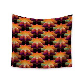 Kess InHouse Danny Ivan 'Stars Pattern' Black Orange Wall Tapestry