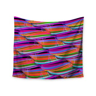 Kess InHouse Danny Ivan 'Super Candy' Red and Teal Polyester Wall Tapestry