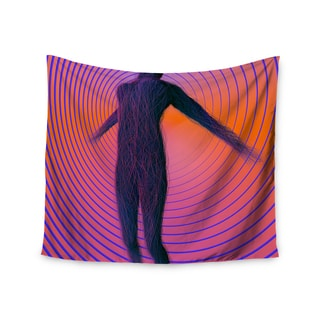 Kess InHouse Danny Ivan 'Human Soul' Purple and Orange Wall Tapestry