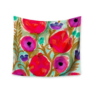 Kess InHouse Crystal Walen 'Fiona Flower' Purple and Red Wall Tapestry