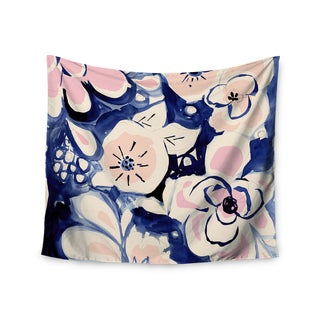 Kess InHouse Crystal Walen 'Midnight Moon Flower' Blue and Pink Wall Tapestry