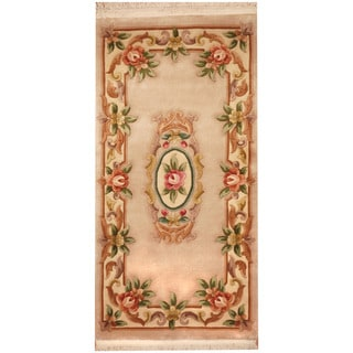 Herat Oriental Sino Hand-knotted Aubusson Wool Rug (2'4 x 4'7)