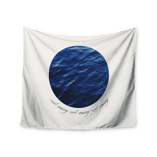 Kess InHouse Chelsea Victoria 'Sail Away' Blue/White Polyester Wall Tapestry