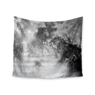 Kess InHouse Chelsea Victoria 'Black Ice' Grey/Black Polyester Wall Tapestry