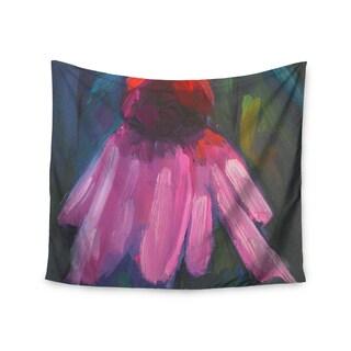 Kess InHouse Carol Schiff 'Shady Coneflower' Pink Red Wall Tapestry