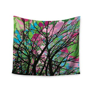 Kess InHouse Empire Ruhl ' Tree Of Spring 2' Green Nature Polyester Wall Tapestry