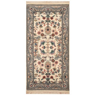 Herat Oriental Indo Hand-knotted Kashan Wool Rug (2' x 4')