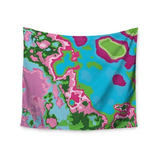 Kess InHouse Empire Ruhl 'Spring Agate Abstract' Teal Pink Wall Tapestry