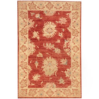 Herat Oriental Afghan Hand-knotted Vegetable Dye Oushak Wool Rug (2'6 x 3'7)