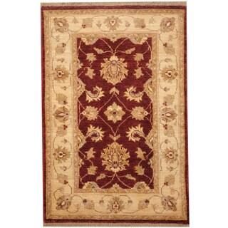 Handmade Herat Oriental Afghan Vegetable Dye Oushak Wool Rug (Afghanistan) - 2'8 x 4'