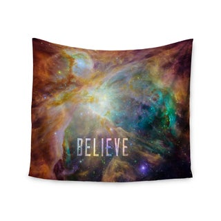 Kess InHouse Bruce Stanfield 'Orion Nebula Believe' Blue and Orange Wall Tapestry