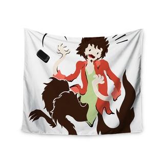 "Kess InHouse Anya Volk ""Werwolf"" Red Green Wall Tapestry"