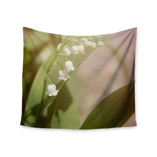 "Kess InHouse Angie Turner ""Lily Of The Valley"" White Green Wall Tapestry"