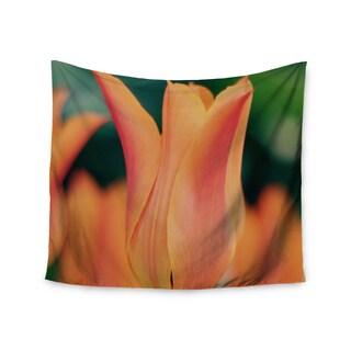 "Kess InHouse Angie Turner ""Orange Tulip "" Orange Green Wall Tapestry"
