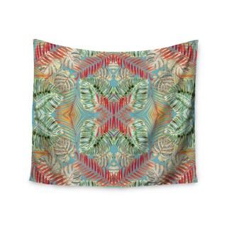 "Kess InHouse Alison Coxson ""Summer Jungle Love Blue "" Red Aqua Wall Tapestry"