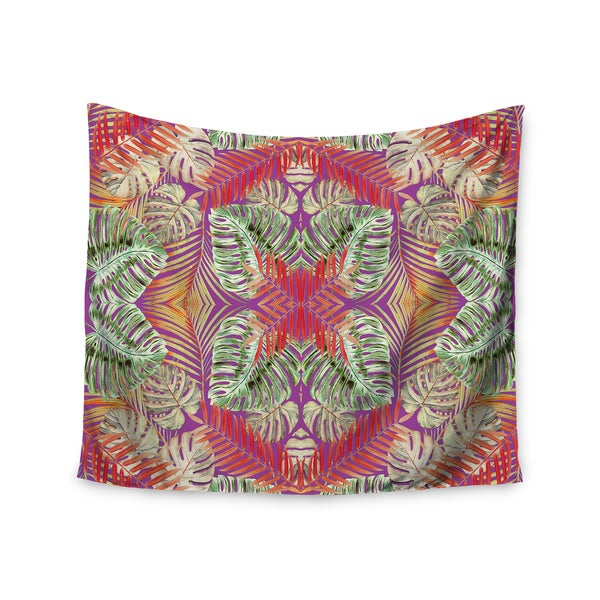 "Kess InHouse Alison Coxson ""Summer Jungle Love Purple "" Green Red Wall Tapestry"