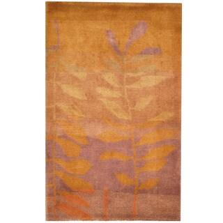 Herat Oriental Indo Hand-knotted Tibetan Wool Rug (2'5 x 4')