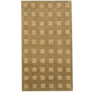 Herat Oriental Indo Hand-knotted Tibetan Wool Rug (2'1 x 3'10)