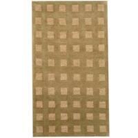 Herat Oriental Indo Hand-knotted Tibetan Wool Rug (2'1 x 3'10) - 2'1 x 3'10