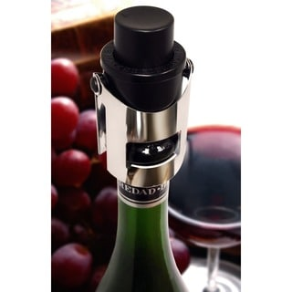 Epicureanist Black Plastic/Stainless Steel Pop Champagne Stoppers (Pack of 6)