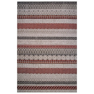 Cancun Collection Boho Mixed Prints Area Rug 5'x8'